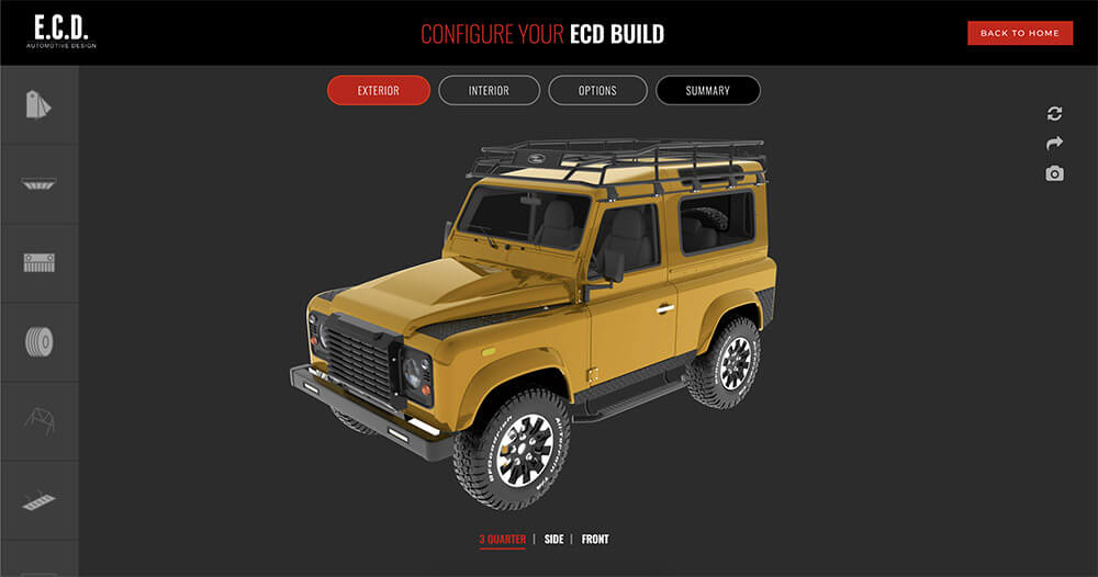 ECS Cars Configurator - Custom Projects with WP Configurator Plugin
